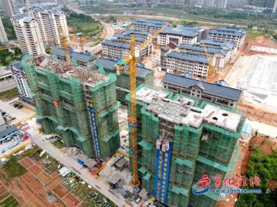 宁化江背滨江安置小区(二期)工程项目建设忙